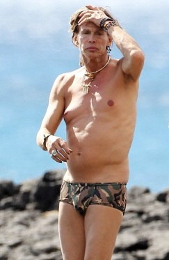 Steven Tyler. If a rock star can't pull off this look, neither can you.